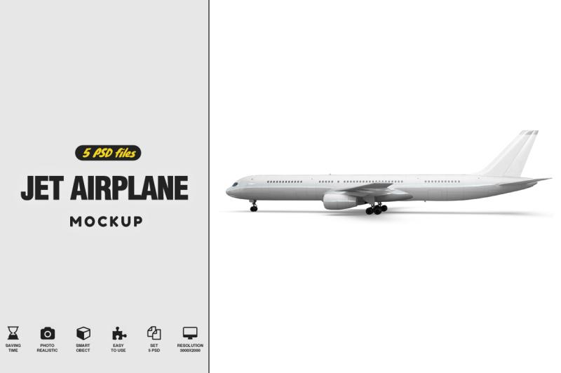 Free Jet Airplane Mockup (PSD Mockups)