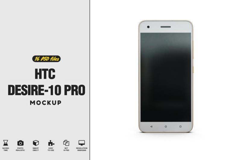 Free HTC Desire 10 Pro Mockup (PSD Mockups)