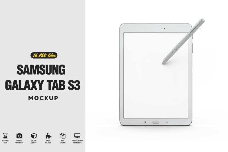 Free Samsung Galaxy Tab s3 Mockup (PSD Mockups)