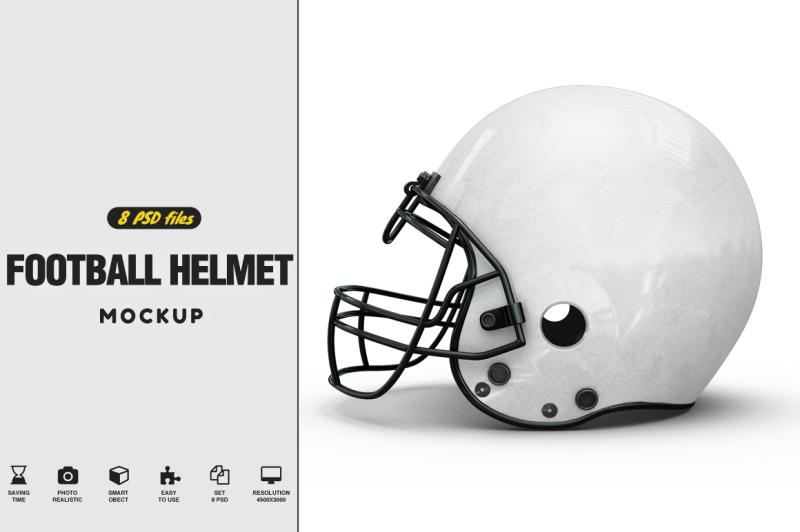 Free Football Helmet Mockup (PSD Mockups)