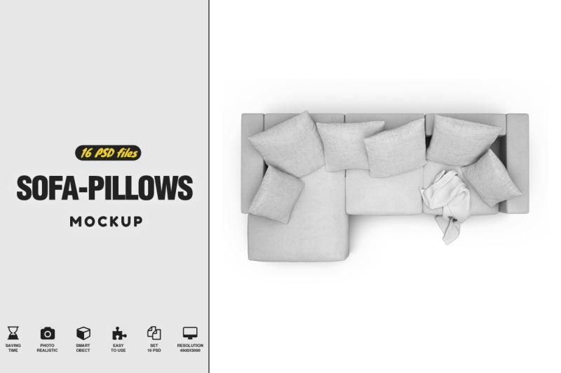 Free Sofa Pillow Vol.1 Mockup (PSD Mockups)