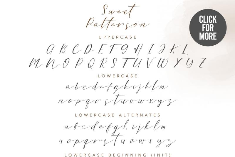 Sweet Patterson Beauty Font By Ian Irwanwismoyo Thehungryjpeg Com