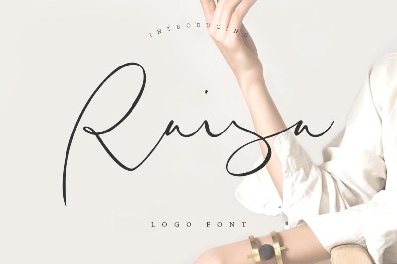 raisa-script-logo-font