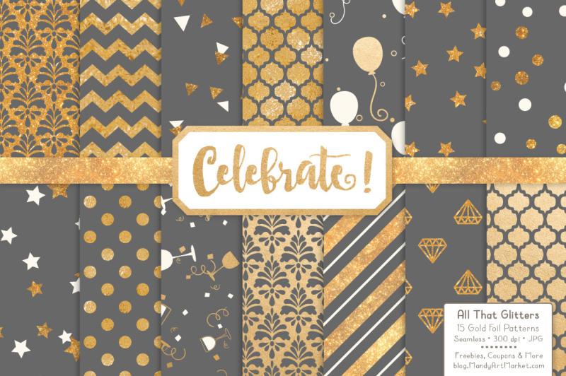 celebrate-gold-glitter-digital-papers-in-grey