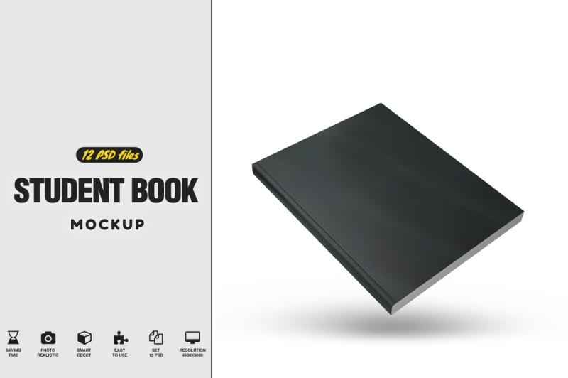 Free Student Book Mockup (PSD Mockups)