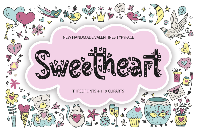 sweetheart-typeface-119-clip-arts