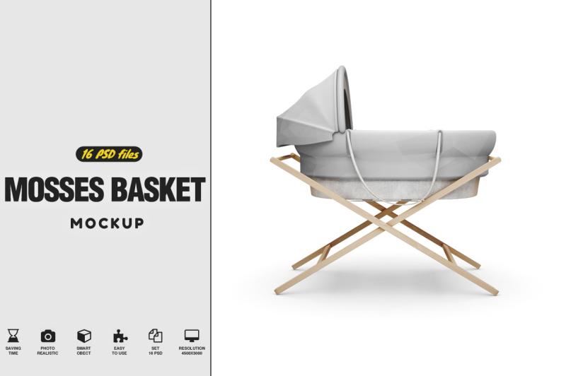 Free Moses Basket Mockup (PSD Mockups)
