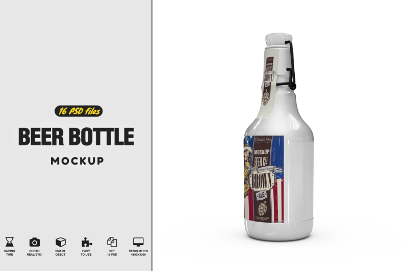 Free Beer Bottle Mockup (PSD Mockups)