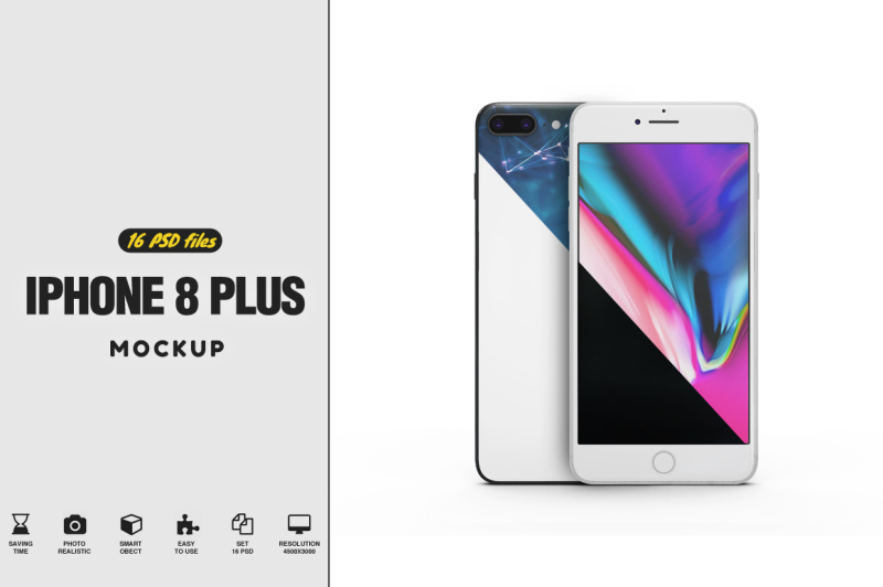 Free iPhone 8 Plus Vol.3 Mockup (PSD Mockups)