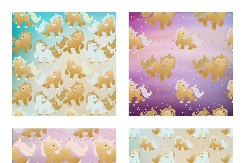 Scrapbook Paper Little Pony Pattern By The Dutch Lady Designs