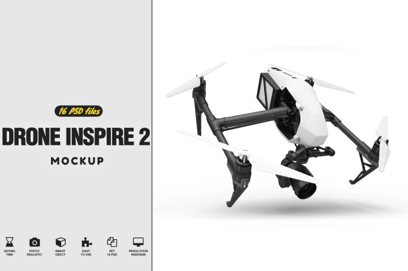 Free Drone Inspire 2 Mockup (PSD Mockups)