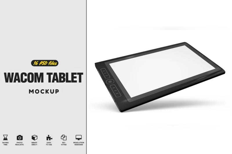 Free Wacom Tablet Mockup (PSD Mockups)