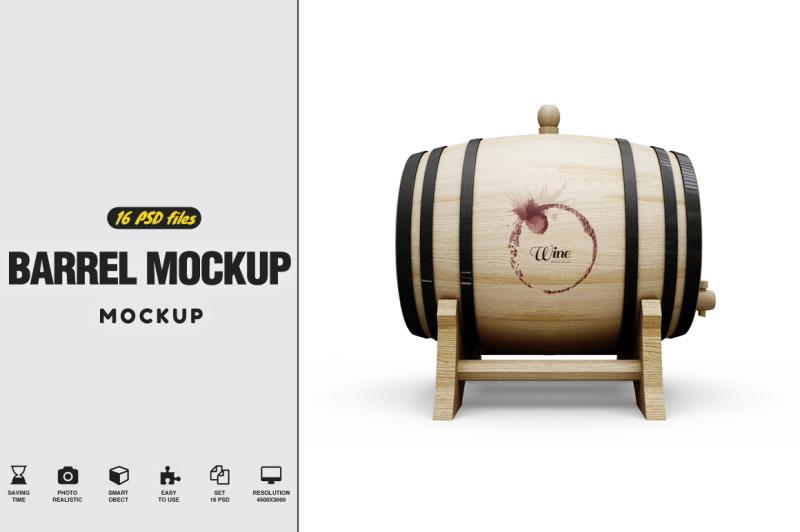 Free Barrel Mockup (PSD Mockups)