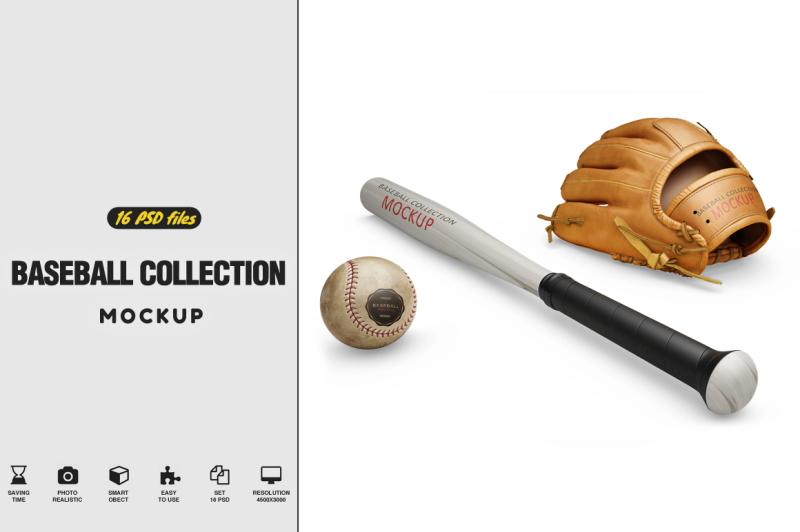 Free Baseball Collection Mockup (PSD Mockups)