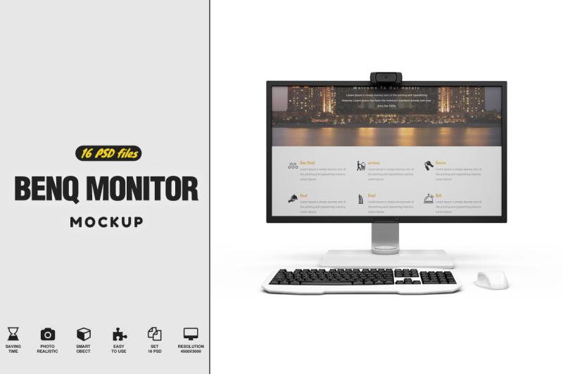 Free BenQ BL320PT Mockup (PSD Mockups)