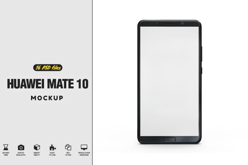 Free Huawei Mate 10 Vol.3 Mockup (PSD Mockups)