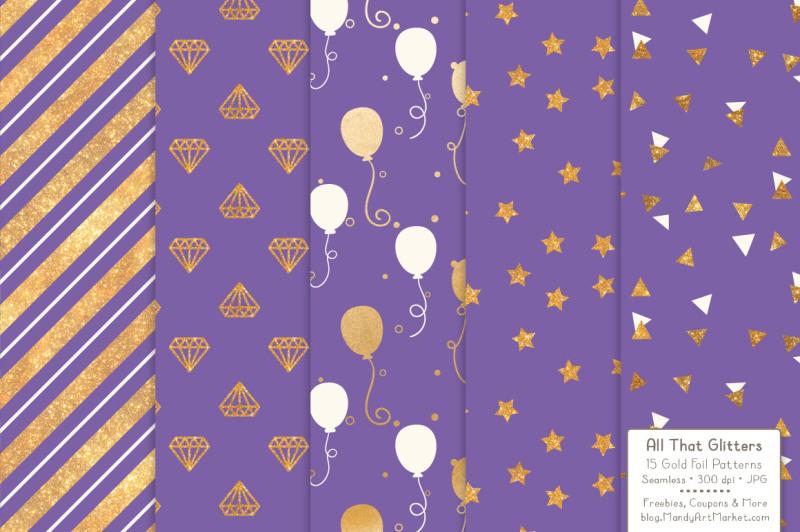 celebrate-gold-glitter-digital-papers-in-purple