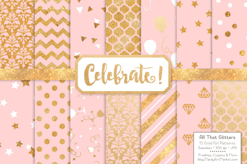 celebrate-gold-glitter-digital-papers-in-soft-pink