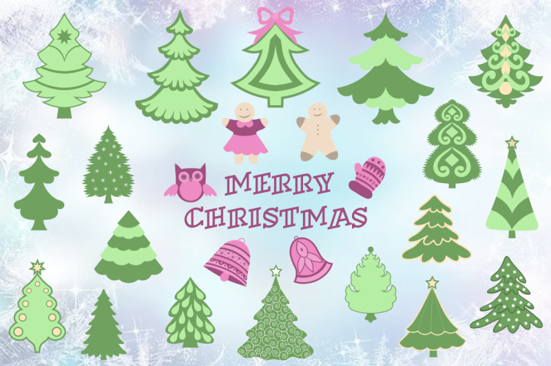 merry-christmas-vector-set