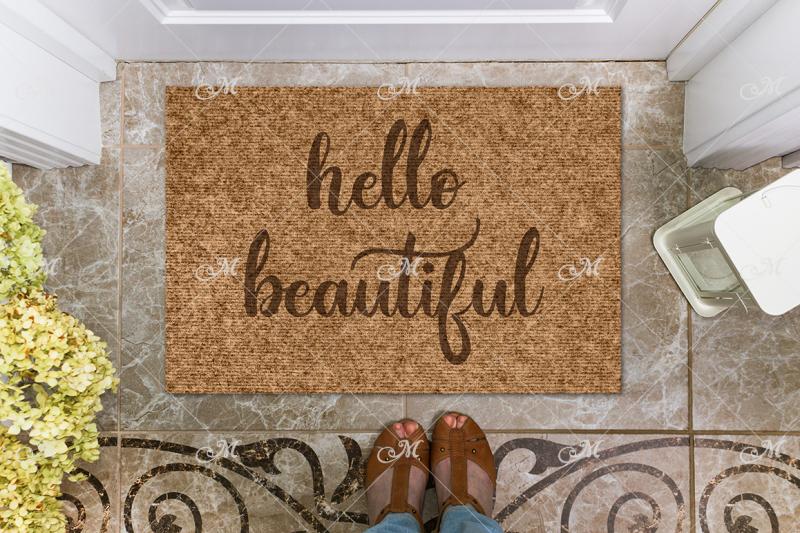 Free Hello Doormat Mock-up. PSD+JPG (PSD Mockups)