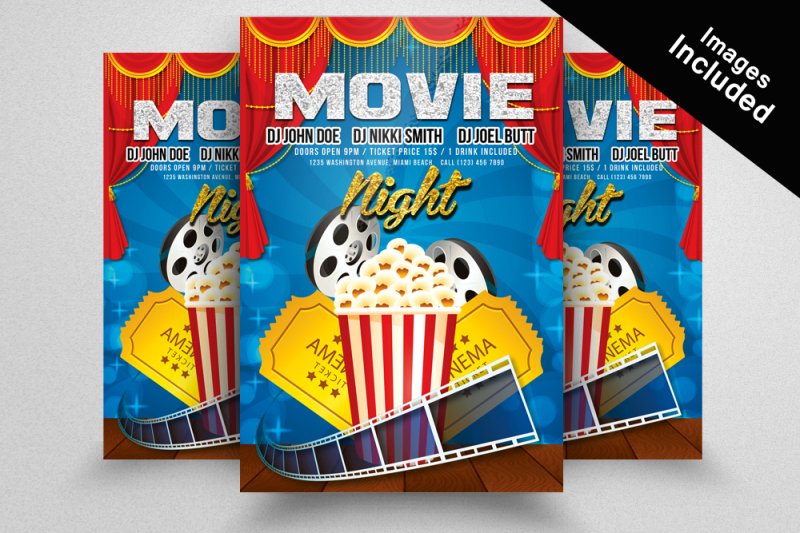 10-movie-theater-flyer-bundle