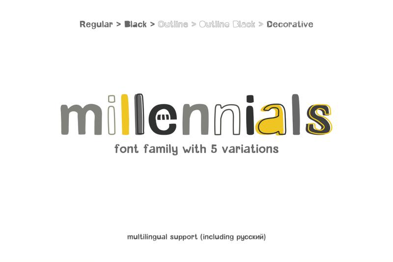 millennials-font-family