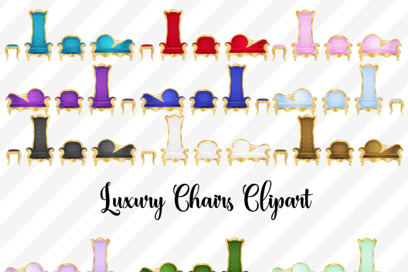 luxury-chairs-clipart-vectors