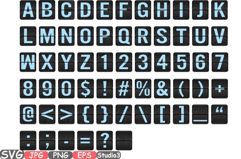airport-letters-and-numbers-silhouette-svg-party-birthday-clipart-bunting-cutting-files-digital-svg-eps-png-jpg-vinyl-sale-clip-art-vector-alphabet-261s