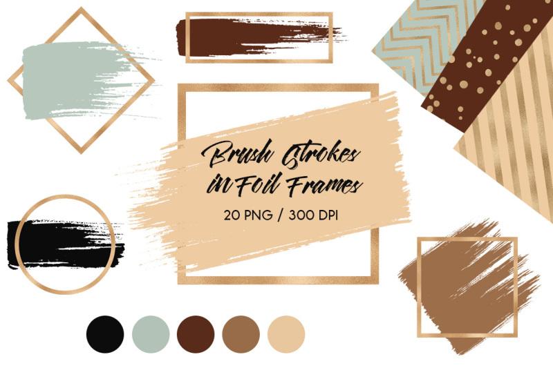 brush-strokes-in-brown-gold-foil-frames