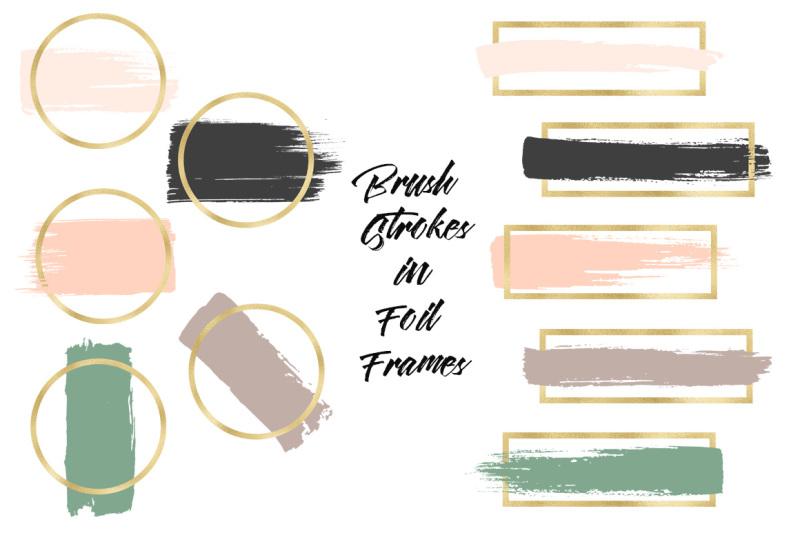 brush-strokes-in-gold-foil-frames
