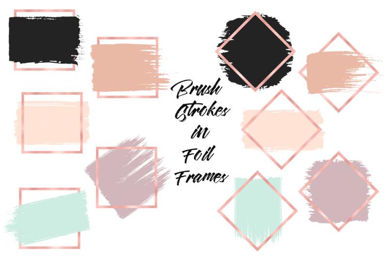 brush-strokes-in-rose-gold-frames