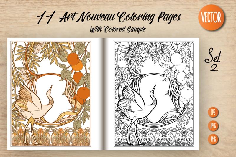 11-art-nouveau-coloring-page