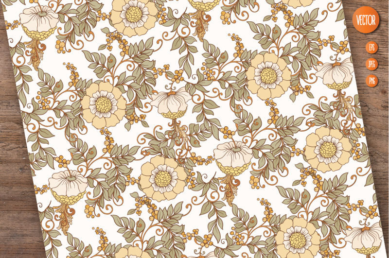 10-art-nouveau-floral-seamless-patterns