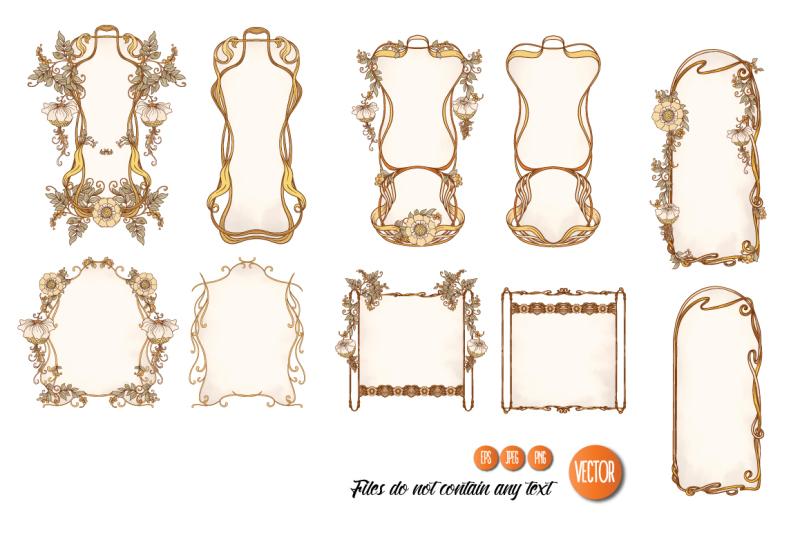 5-pair-of-art-nouveau-labels