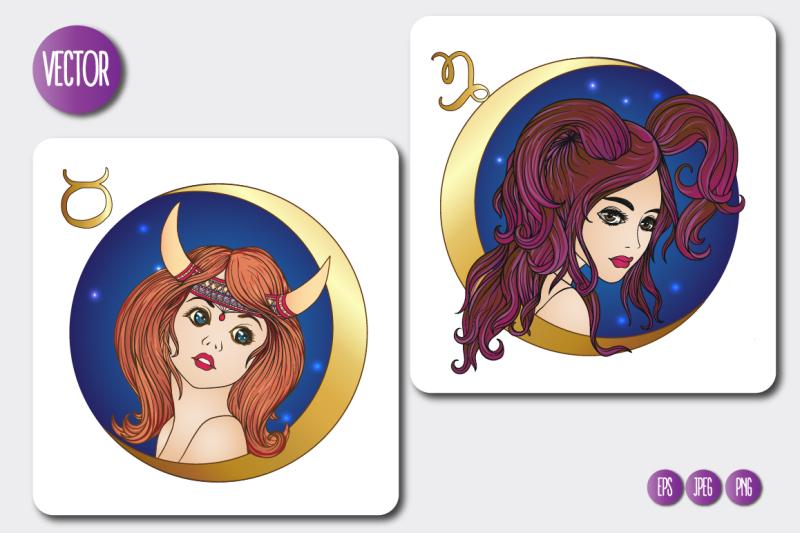 12-zodiac-girls-with-moon
