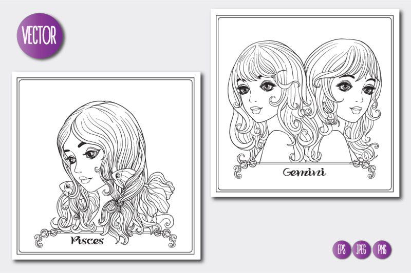 12-zodiac-girls-coloring-pages