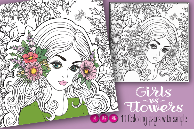11-girls-and-flowers-coloring-pages