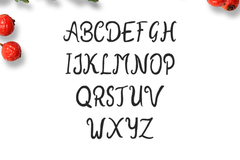 new-year-2018-brush-font