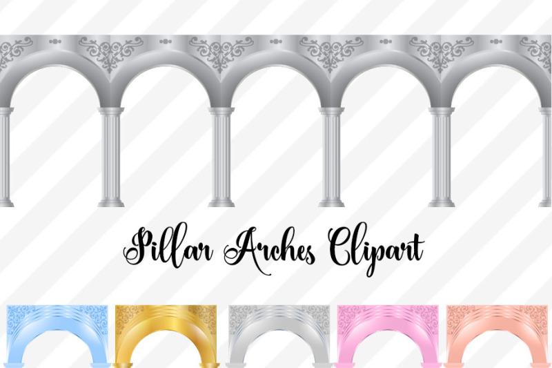 pillar-arches-clipart