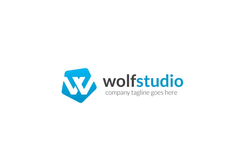 wolf-studio-w-letter-logo