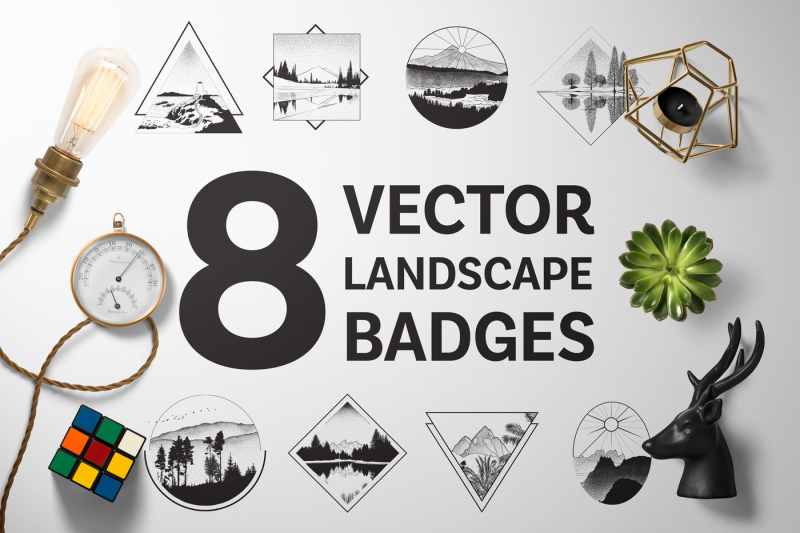 8-vector-landscape-badges