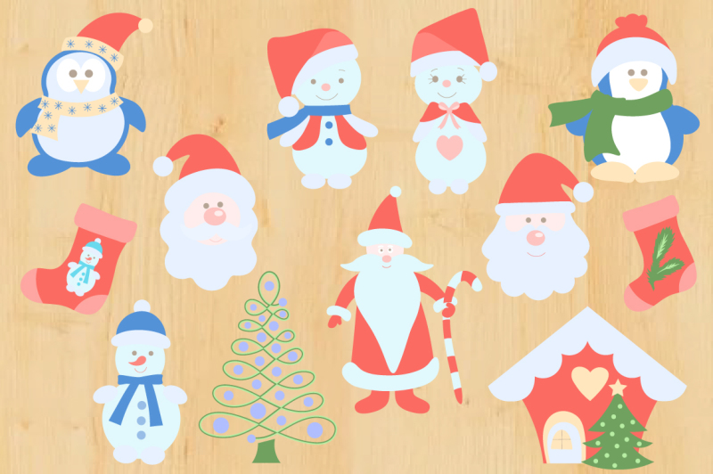 merry-christmas-vector-set