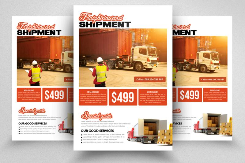 international-freight-flyer-template
