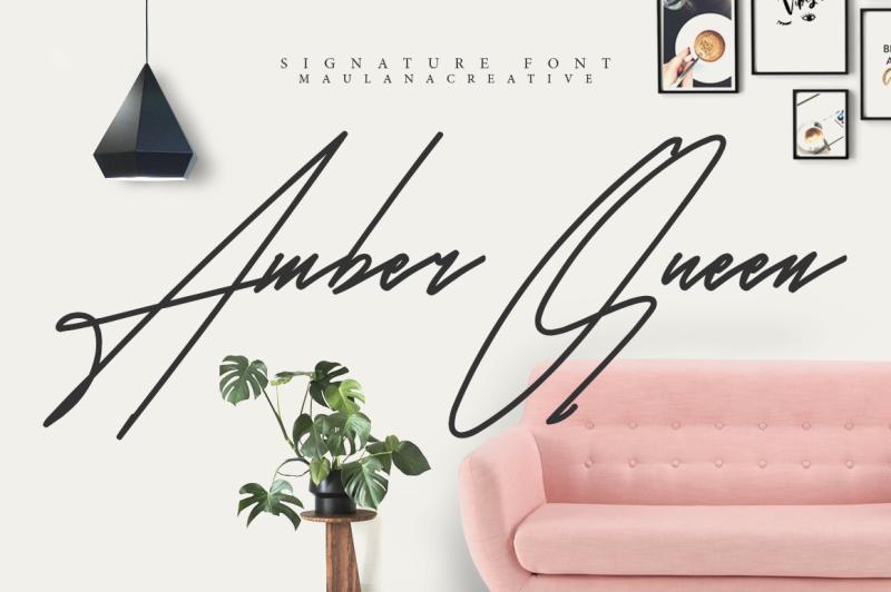 amber-queen-signature-font