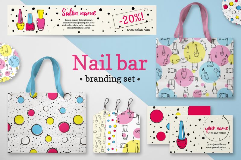 nail-branding-set-in-pop-art-style
