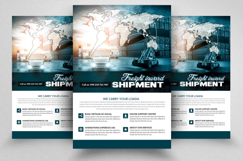 international-freight-flyer-template
