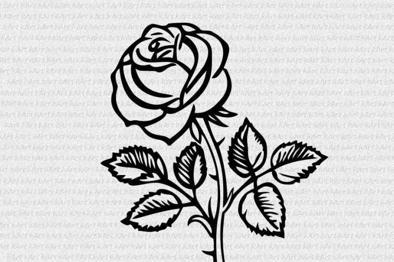 Rose Monogram Svg Flower Monogram Svg Rose Split Monogram Svg