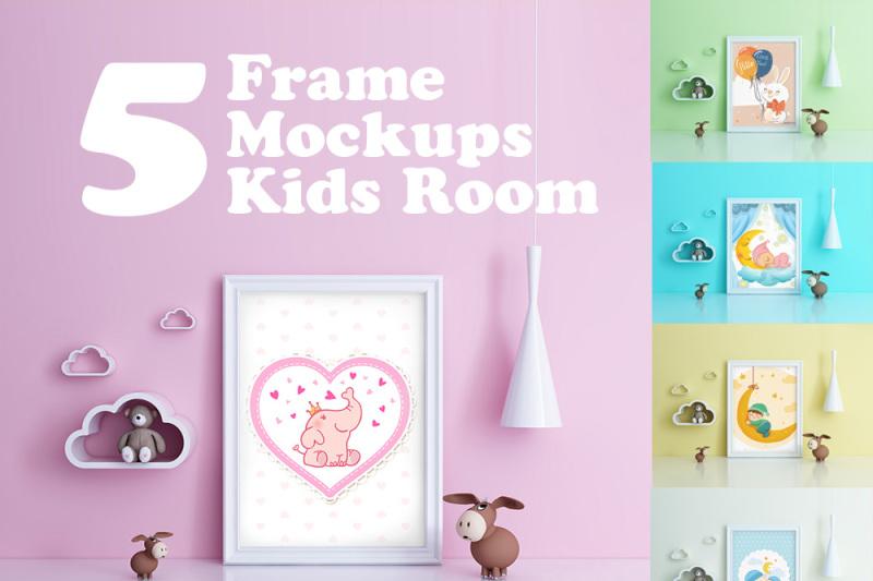 kids-room-frame-poster-mockup-toy