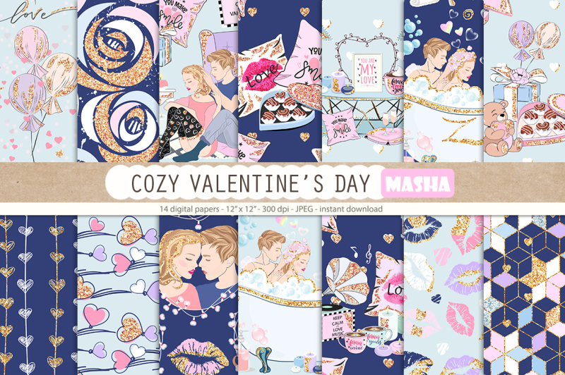 cozy-valentine-s-day-digital-papers