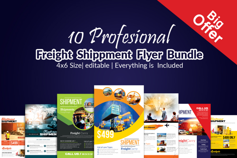 10-freight-services-flyer-bundle